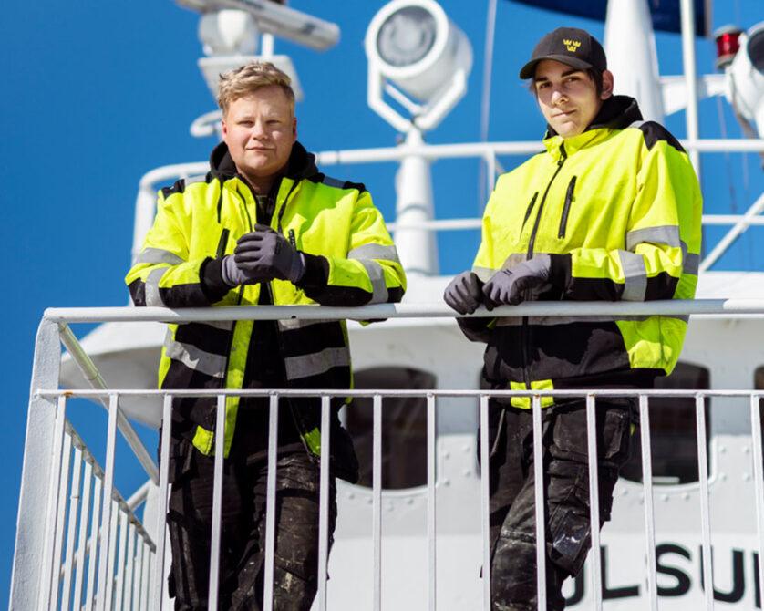 Elever på Sjöfartsprogrammet