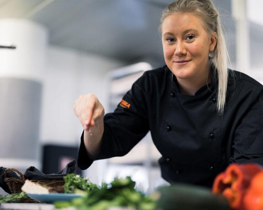 Elev på Restaurang- och livsmedelsprogrammet