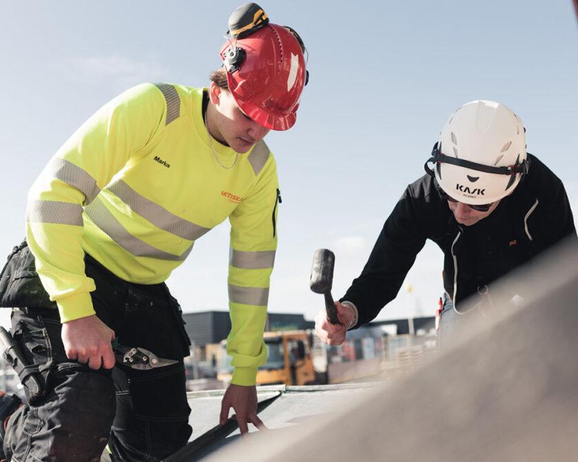 Elev på Bygg- och anläggningsprogrammet